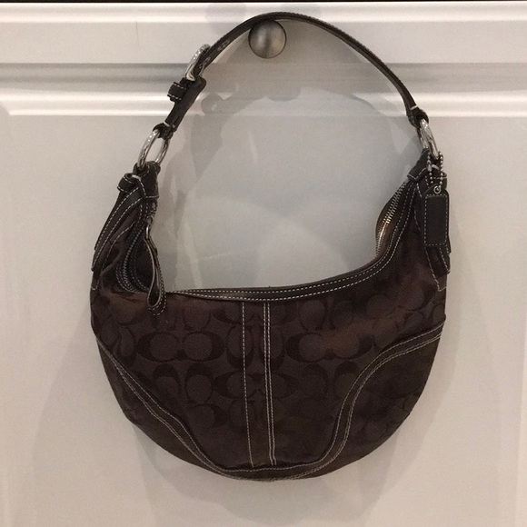 bf5a68428170 ... official store coach small brown logo handbag ad90d 9919f
